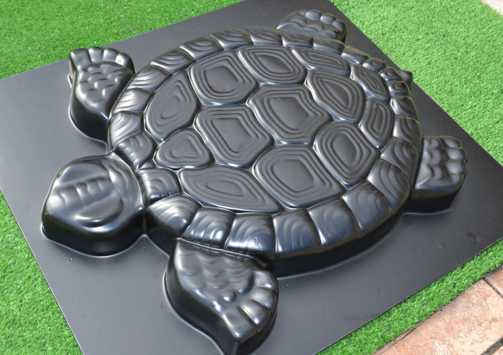 4pcs molds turtle stepping stone concrete mould abs for Garden pond moulds