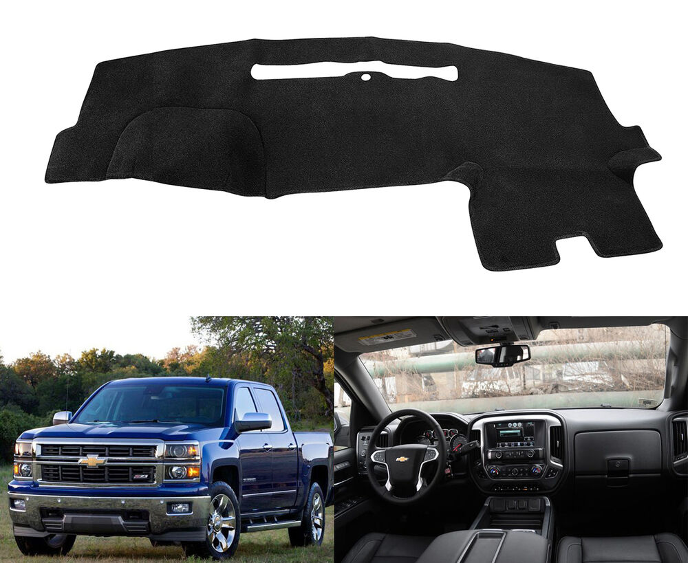 For 2015 2016 Chevrolet Silverado Dashmat Dashboard Mat