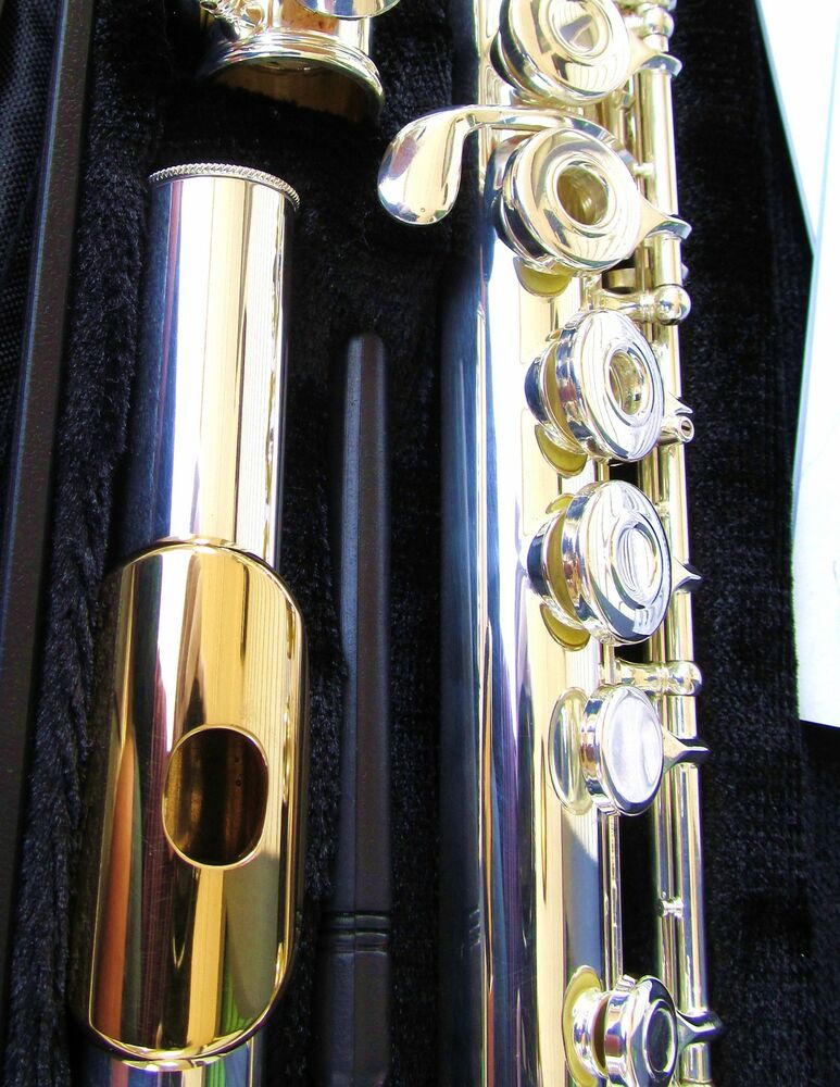 new gemeinhardt 3oshb silver flute w gold lip open hole b foot offset g 30shb ebay. Black Bedroom Furniture Sets. Home Design Ideas