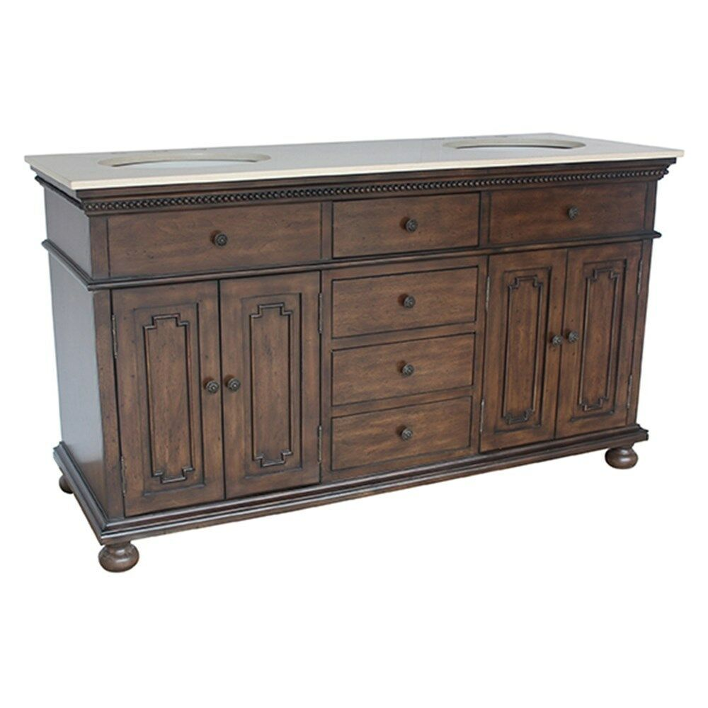bathroom vanities 2 sinks 60 quot traditional vanity sink four drawer amp doors 16936