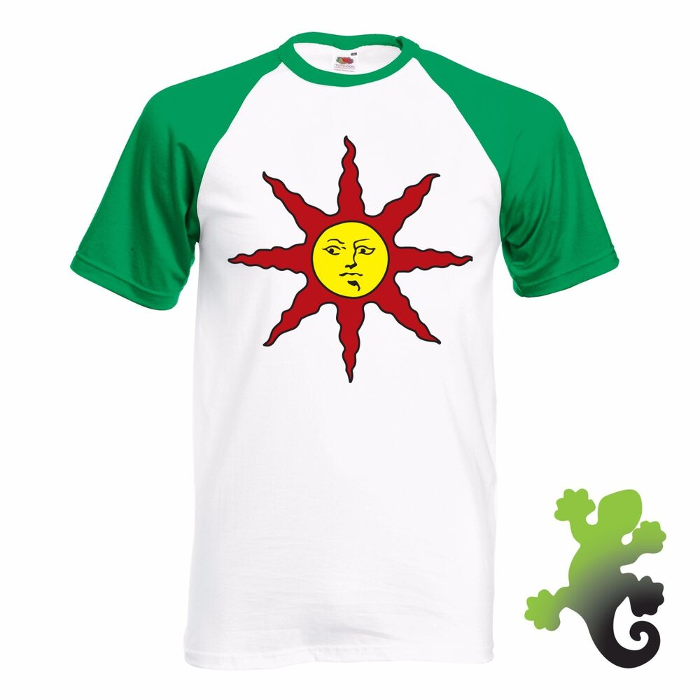 Cosplay Sun Logo Green/White T-shirt - Dark Souls 3 Praise ...
