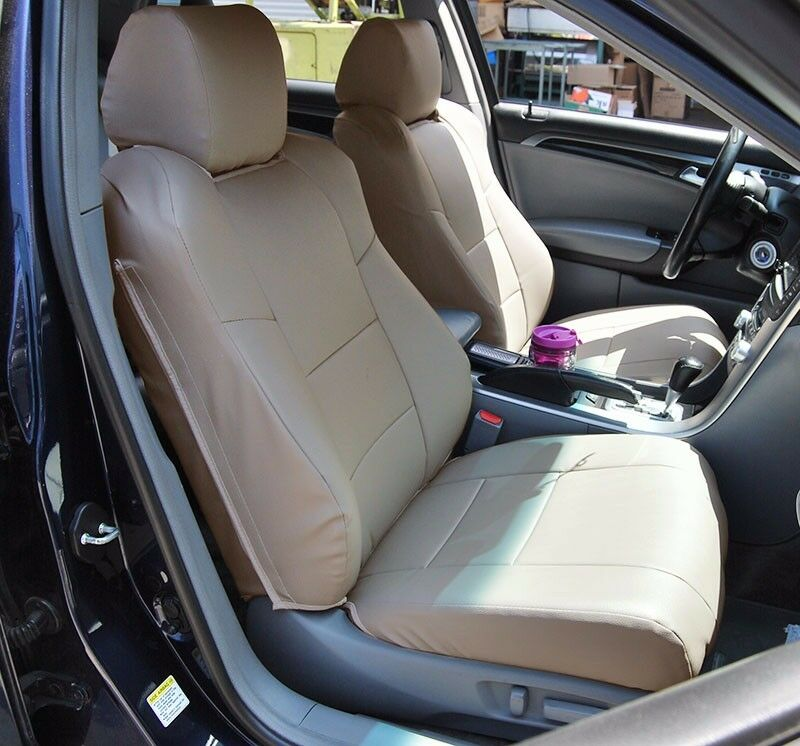 Acura Tl 2004 2008 Beige Leather Like Custom Made Fit Front Seat Cover Ebay