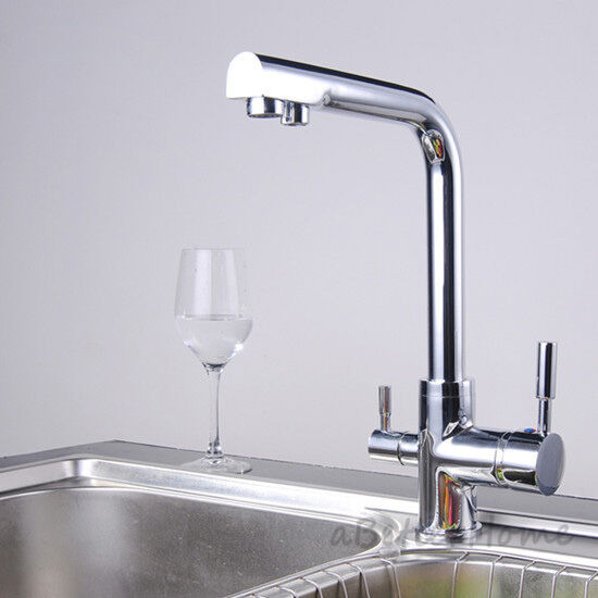 kitchen sink water taps swivel spout 3 way kitchen faucet filter drink cold 6031