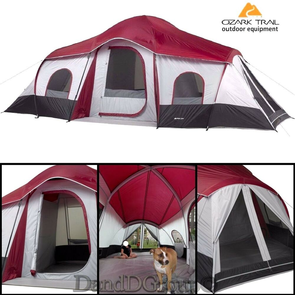 Ozark Trail 10 Person 3 Room Instant Cabin Camping Tent