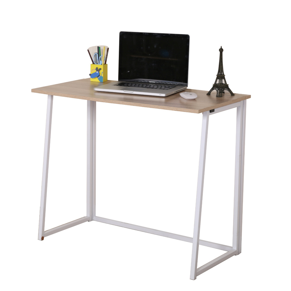 CherryTree Furniture Compact Flip-Flop Folding Computer Office Desk