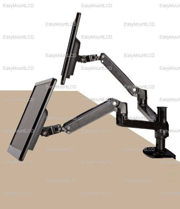 Ezm Dual Adjustable Full Motion Gas Spring Monitor Mount