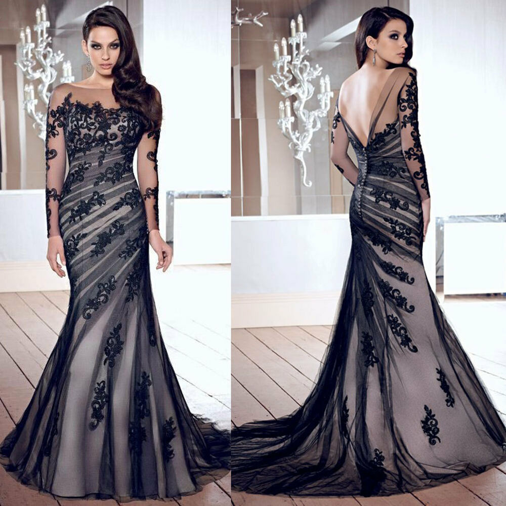 New Sexy Lace Long Mermaid Evening Party Ball Gown Prom