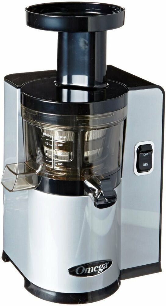 Omega Vert Slow Juicer Vsj843qs : Omega vERT Slow Juicer vSJ843QS, Square version, Silver Brand New eBay