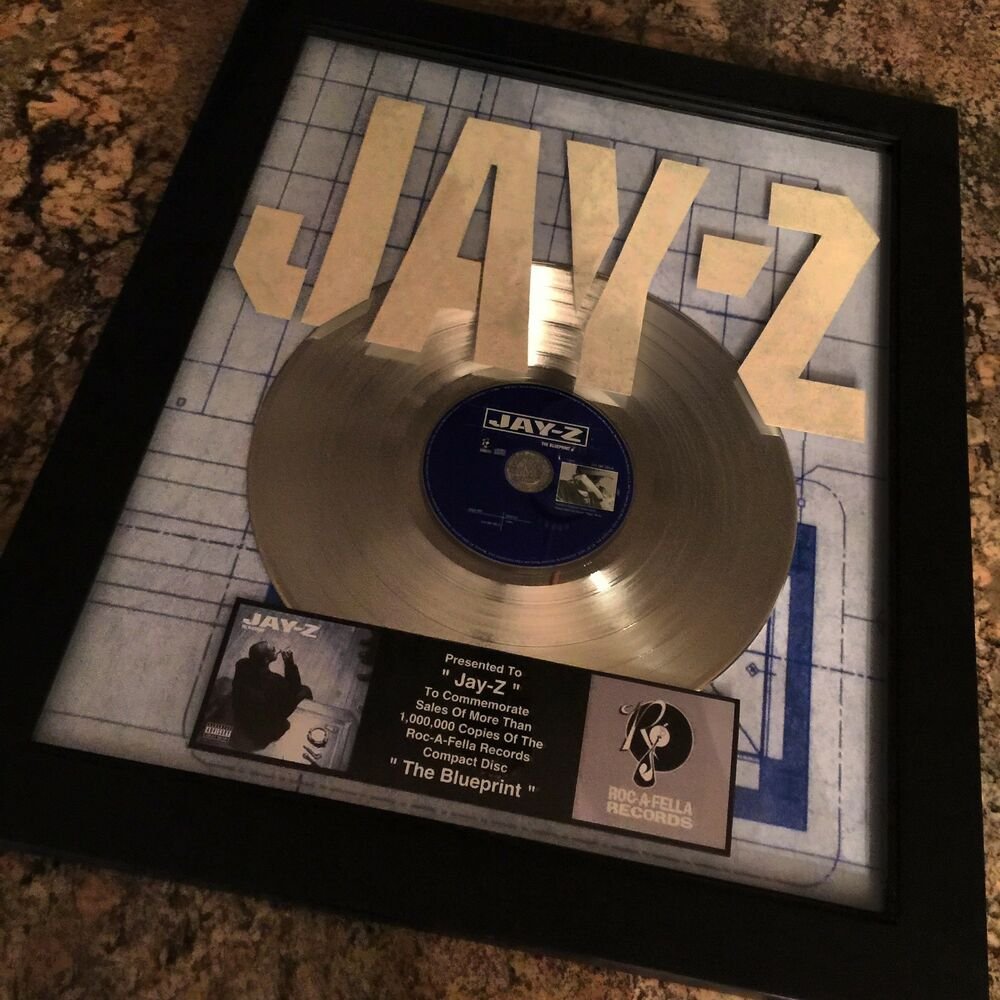 History Platinum: Jay Z Blueprint Platinum Record Disc Album Music Award MTV