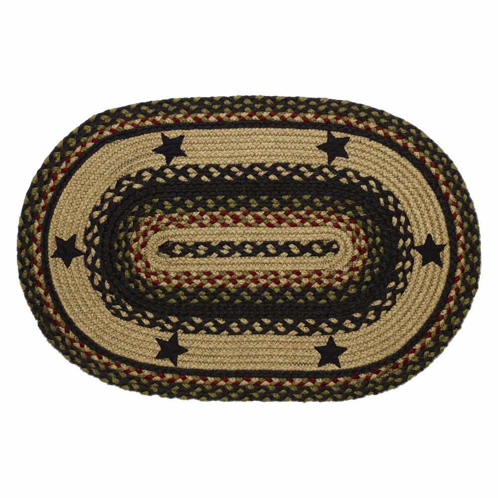 "IHF Home Decor Braided Area 22"" X 72"" Oval Carpet Accent"
