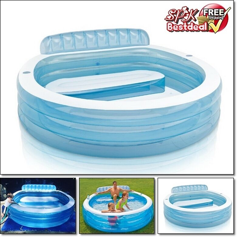 Large family inflatable swimming pool center water kids play fun backyard summer ebay for Inflatable swimming pool buy online india