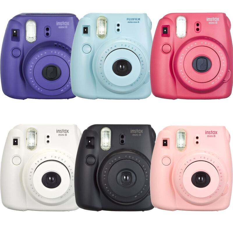 Fujifilm Instax mini 8 Fuji Instant Film Camera, Pink, Red, Purple ...