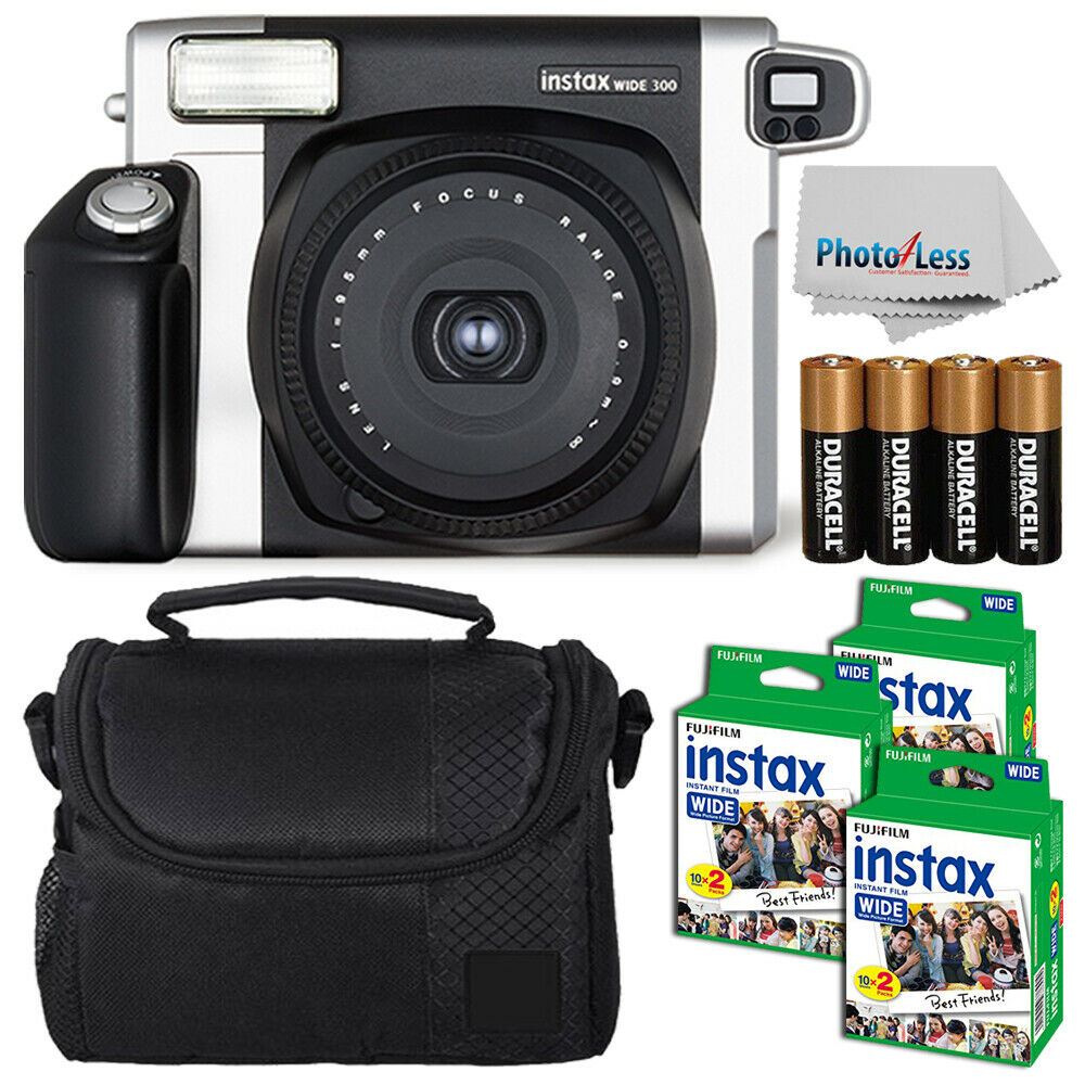 fujifilm fuji instax wide 300 instant film camera 60 films more top value kit ebay. Black Bedroom Furniture Sets. Home Design Ideas