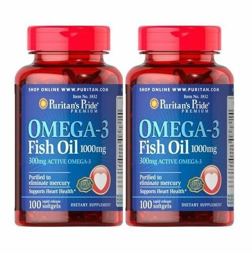 Omega 3 fish oil 1000mg 2x100 200 pearls puritan s health for Oily fish list