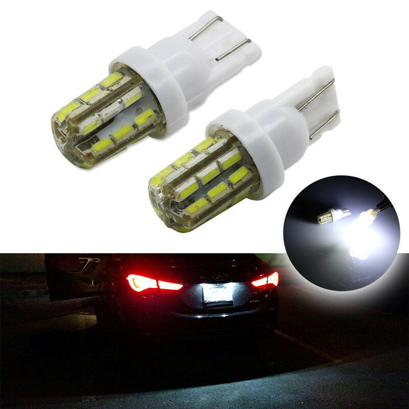 Lights Bulb 2Pcs White 24-SMD Xenon T10 168 194 2825 LED
