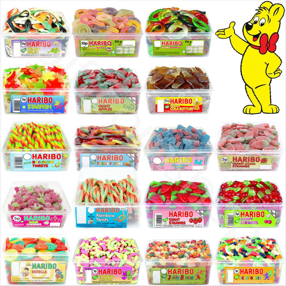 1 X Full Tub Of Haribo Sweets Candies Party Favours