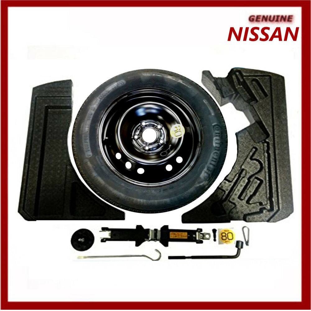 genuine nissan qashqai j11 space saver spare wheel kit inc tyre new ebay. Black Bedroom Furniture Sets. Home Design Ideas