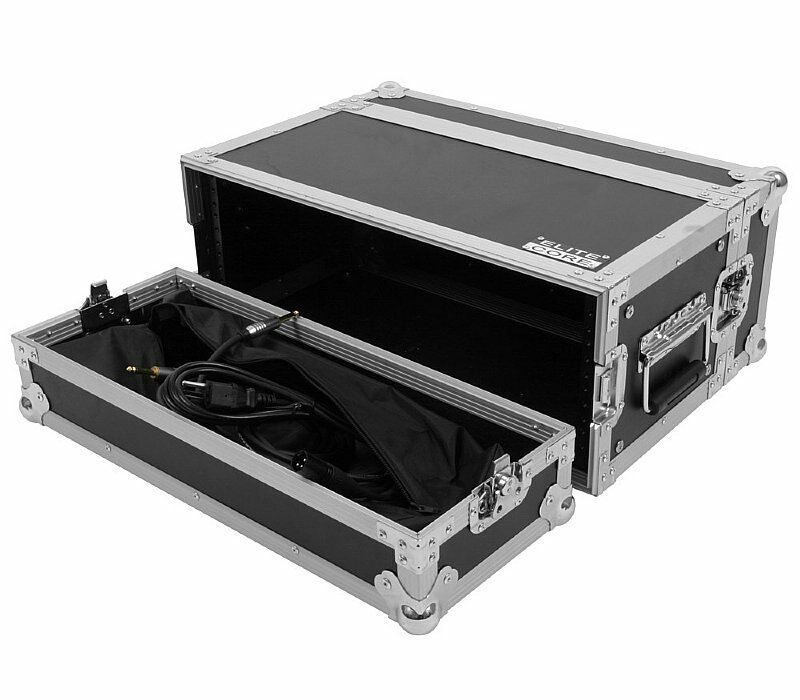 4 space 4u ata effects rack road tour flight case w lid bags by elite core 759681008934 ebay. Black Bedroom Furniture Sets. Home Design Ideas