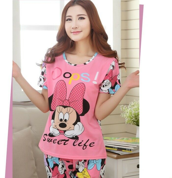 100% Cotton Birthday Gift Pajamas Set Lady Women's Girl