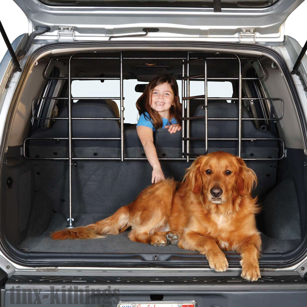 adjustable vehicle safety pet gate barrier door divider bar fence dog travel new ebay. Black Bedroom Furniture Sets. Home Design Ideas