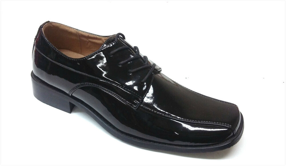 brand new mens tuxedo formal dress shoes patent leather