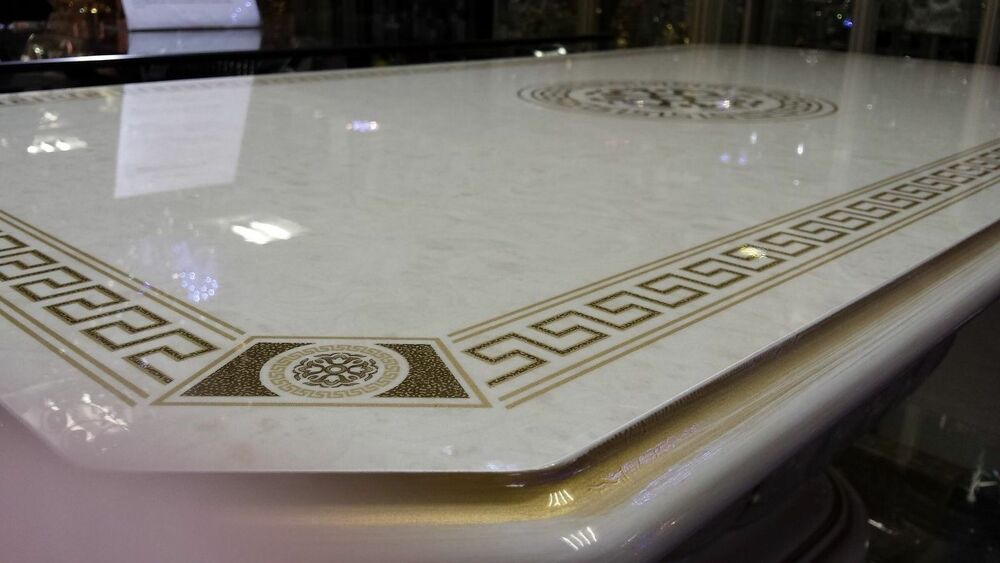 Luxury Versace Design Italian Coffee Table Cream Or Black