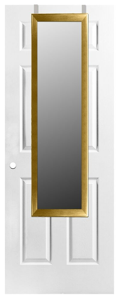 home basics new over the door full length rectangle mirror. Black Bedroom Furniture Sets. Home Design Ideas