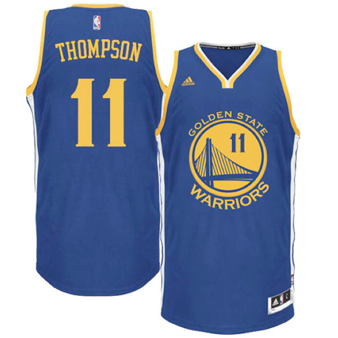 1a82a27640f Details about NBA Klay Thompson  11 Golden State Warriors adidas Swingman  Men s Jersey - Blue