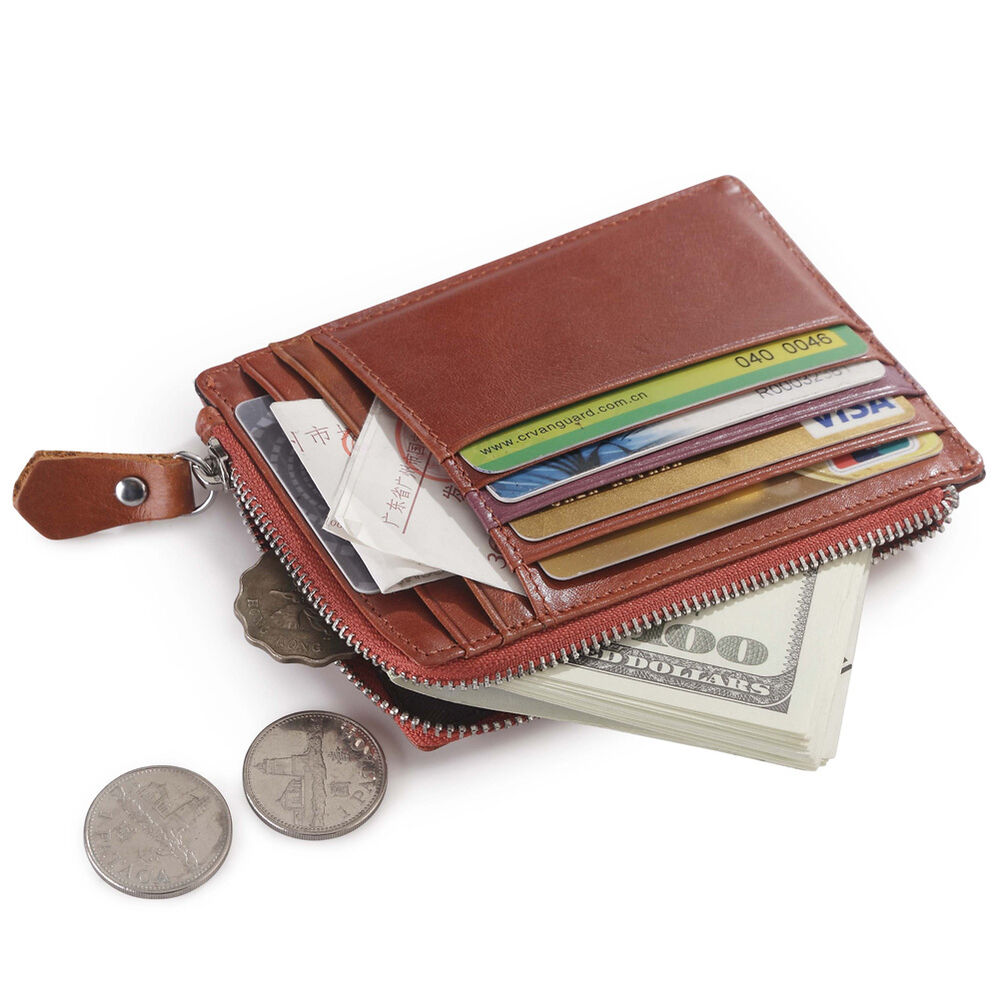 Women Leather Credit Card Case Coin Purse Wallet Business