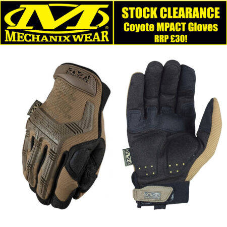 img-Mechanix MPACT Coyote Tan Black Gloves TWO-TONE Military Tactical Free Delivery