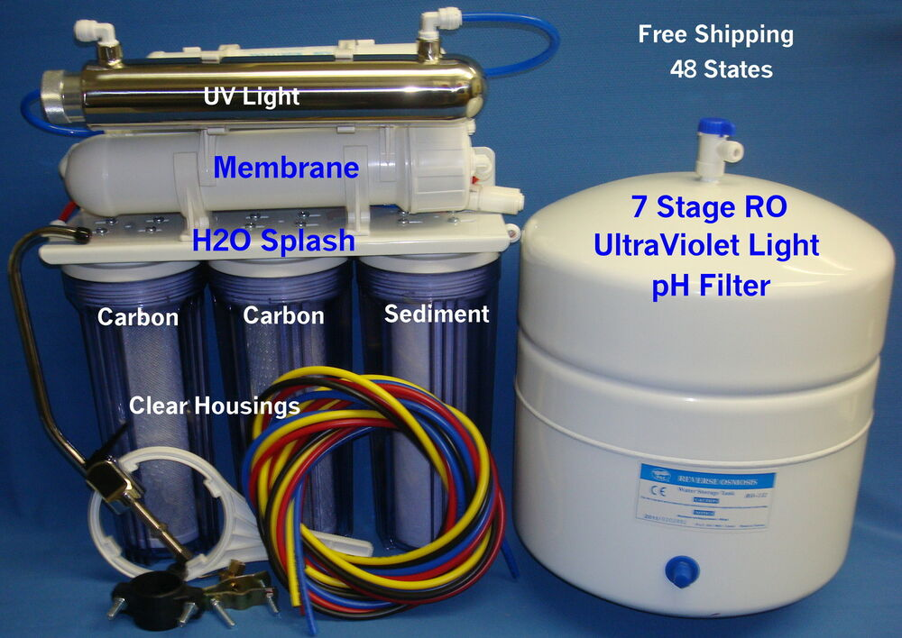 7 Stage Ro Alkaline Ph Uv Reverse Osmosis System 100 150