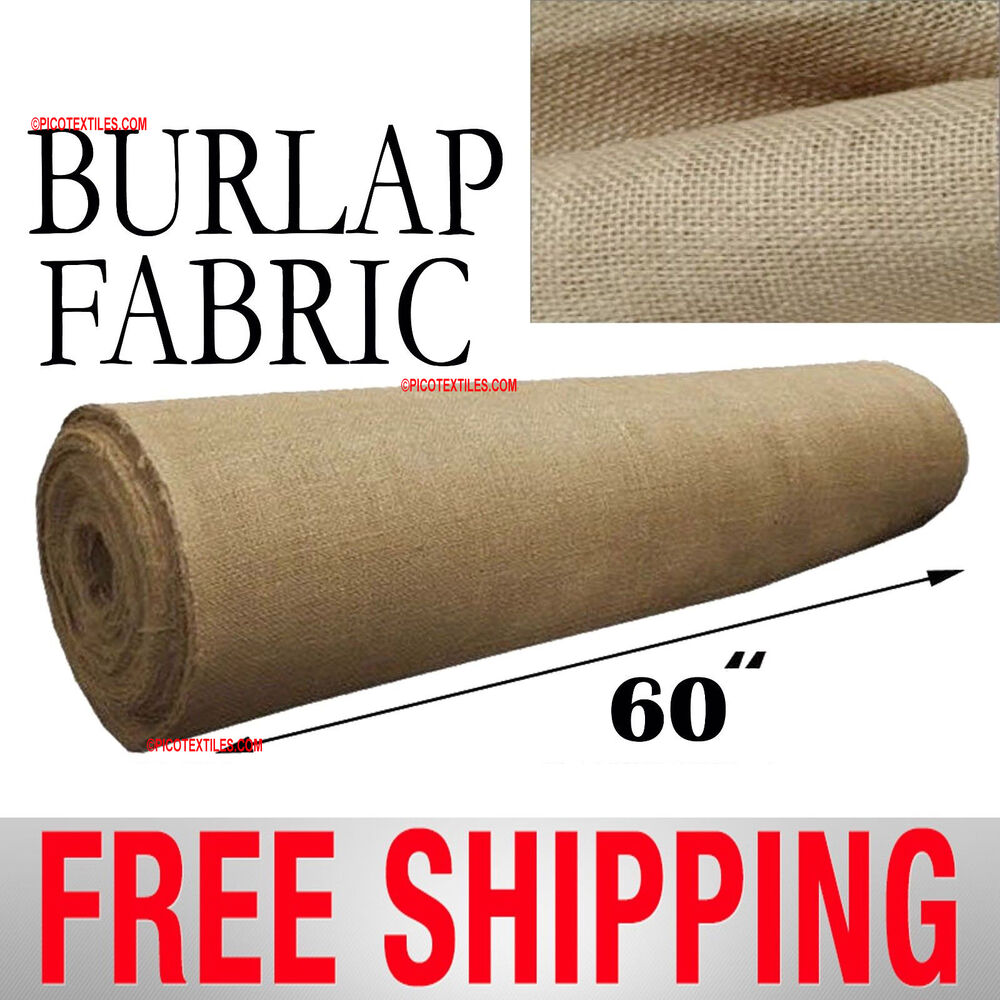 Burlap natural jute fabric 60 wide 10oz sold by the for 60 burlap