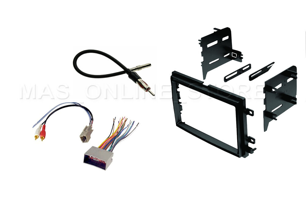 Double 2 Din Car Stereo Radio Dash Kit Mounting Trim Bezel