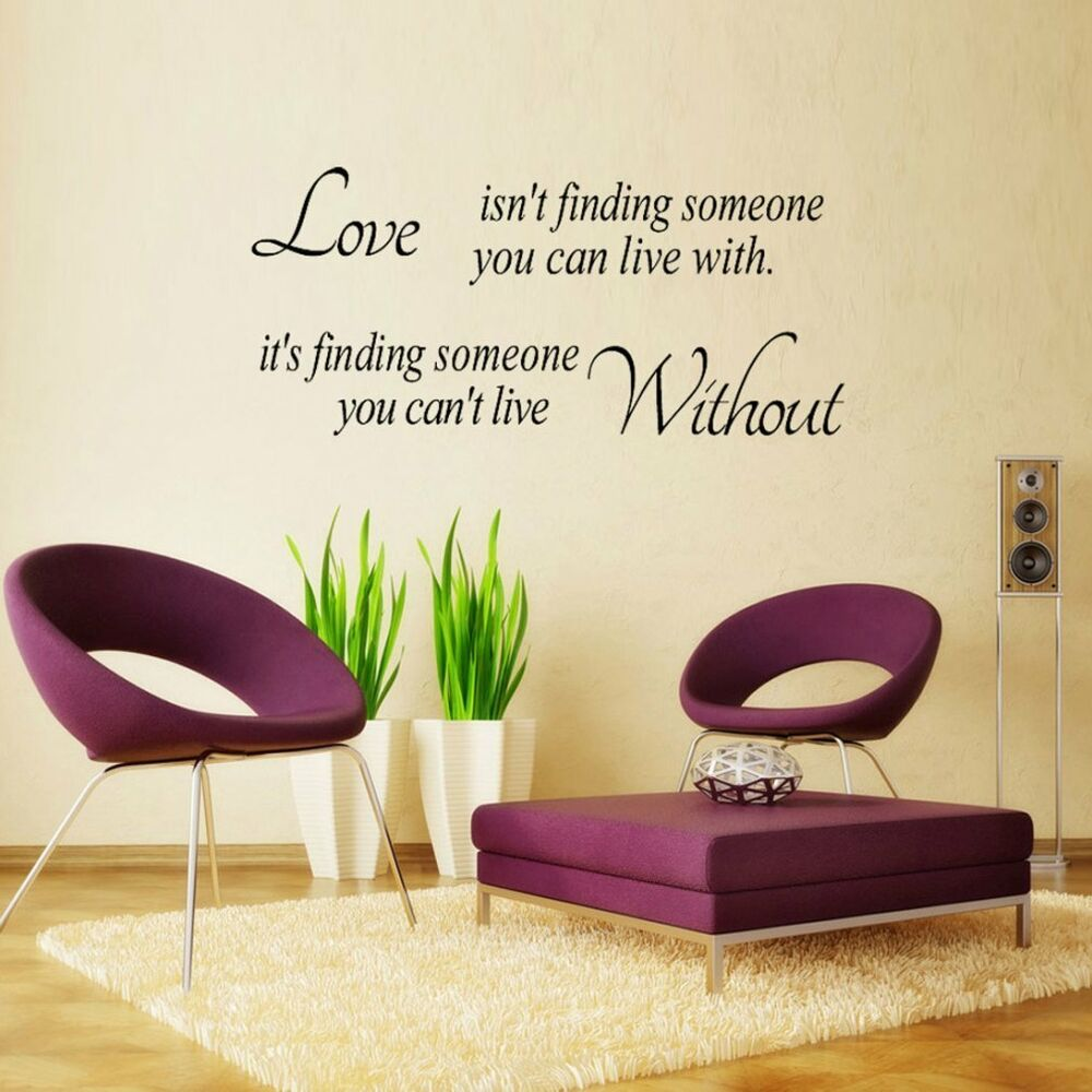 Quote Word Decal Vinyl Diy Home Room Decor Art Wall Stickers Bedroom Removable Ebay