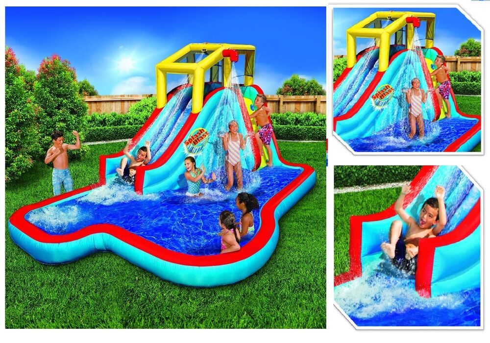 Commercial inflatable water slide jumper bouncer splash - Commercial swimming pool water slides ...