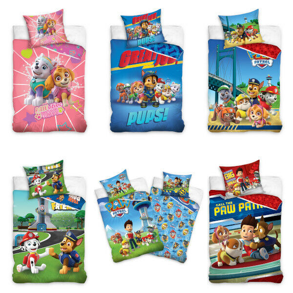 paw patrol kinderbettw sche babybettw sche kinder bettw sche ebay. Black Bedroom Furniture Sets. Home Design Ideas