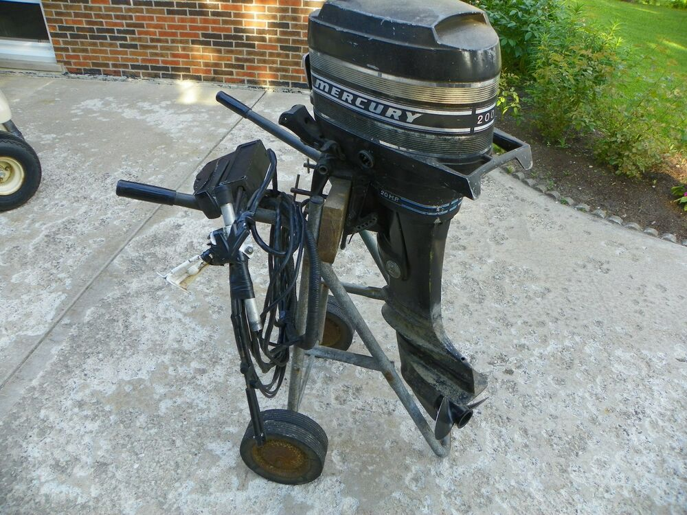 Sailboat Engine Controls : Mercury hp outboard boat motor engine