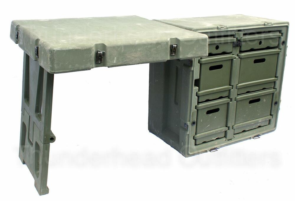Hardigg FIELD DESK US Military Army Surplus Tent Table ...