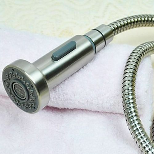 Kitchen Faucet Sprayer Replacement: Pull Out Sprayer Brushed Nickel For Kitchen Faucet