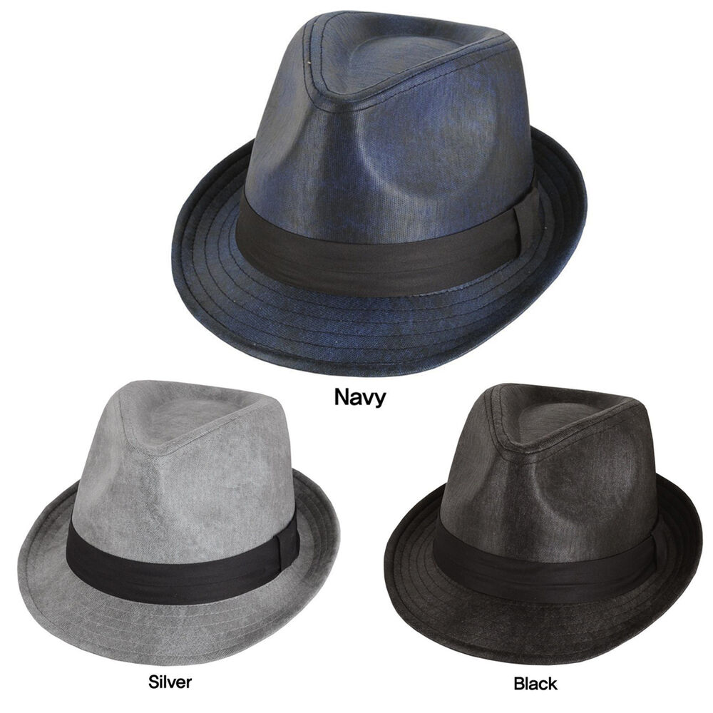 New mens wedding dress formal fedora hat wh 125 ebay for Dress hats for weddings