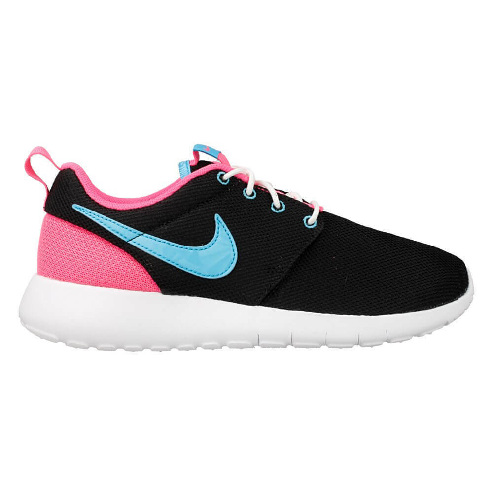 1eb4cd70e116 Details about 599729-013 Girls  Nike Roshe One (GS) Shoe!! BLACK GAMMA BLUE  PINK BLAST WHITE!!