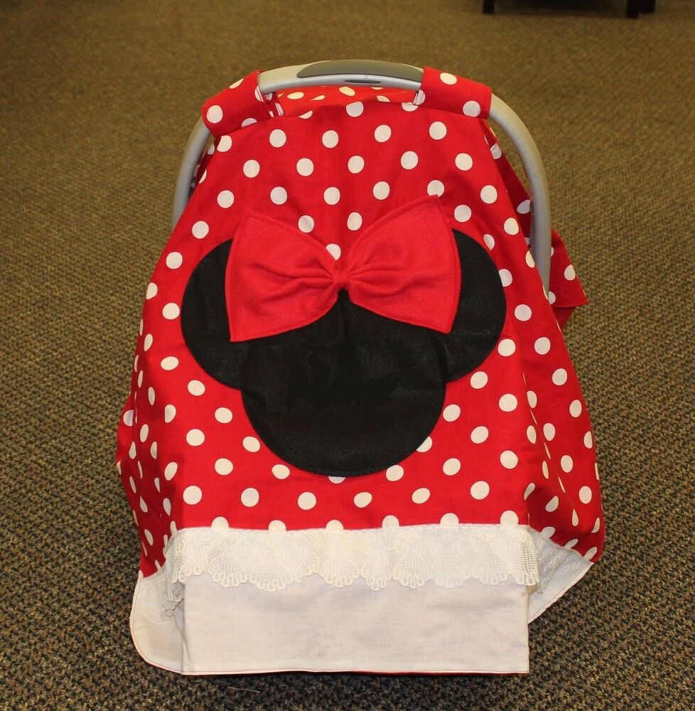 minnie mouse personalized infant car seat canopy ebay. Black Bedroom Furniture Sets. Home Design Ideas