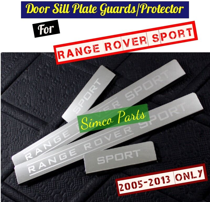 Range Rover Sport 2005 2013: 4 X Door Sill Scuff Plate Guards For Land Range Rover