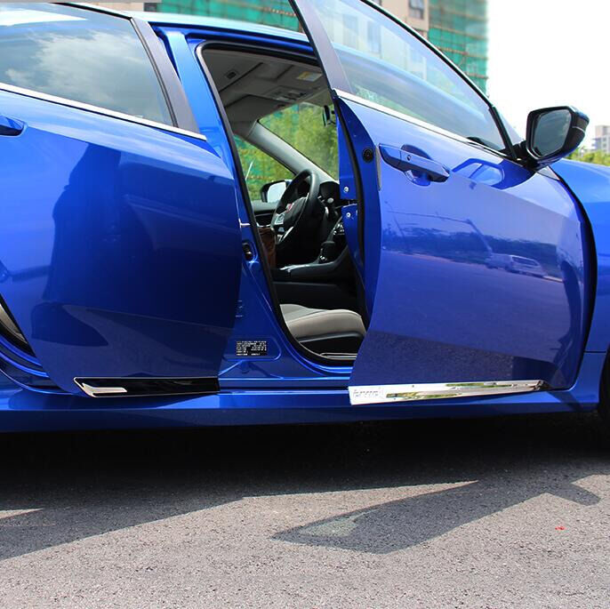 chrome stainless steel body molding trim  honda civic  door     ebay