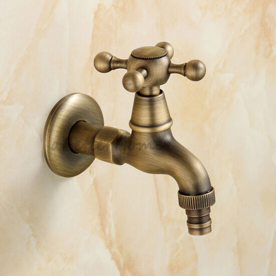 Vintage Laundry Bathroom Wall Mount Washing Machine Faucet