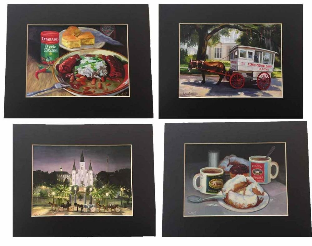10x14 New Orleans Louisiana Matted Prints Ready For