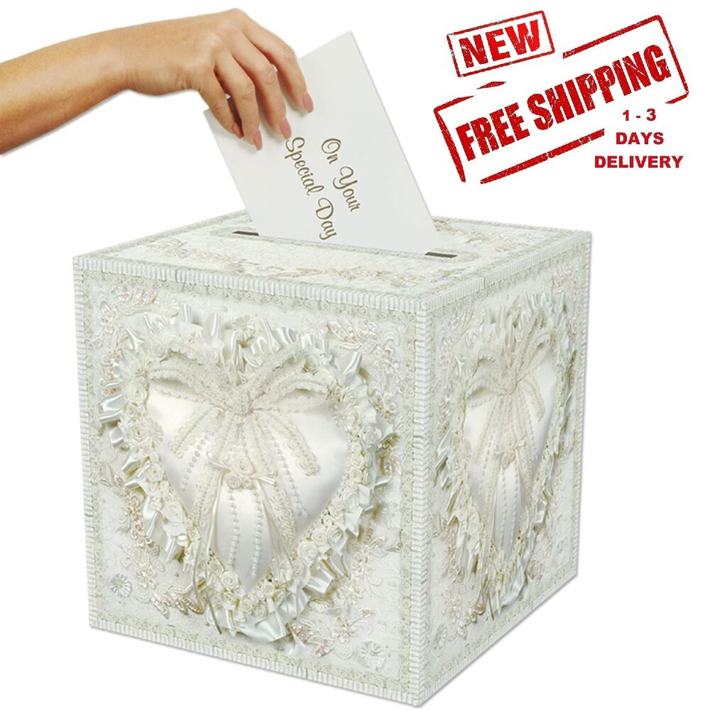 Wedding Gift Card Box Bride Present Money Holder Envelope Bridal ...