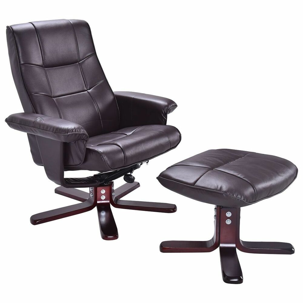 executive pu leather seat chair leisure recliner furniture