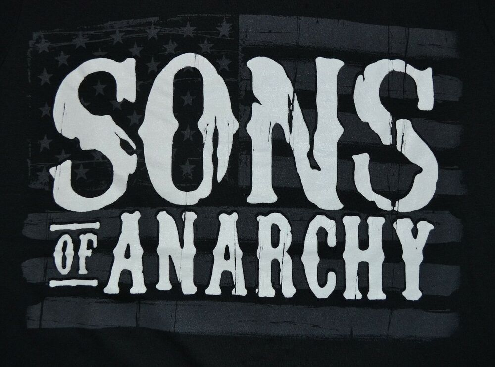 sons of anarchy flag adult men 39 s t shirt officially. Black Bedroom Furniture Sets. Home Design Ideas