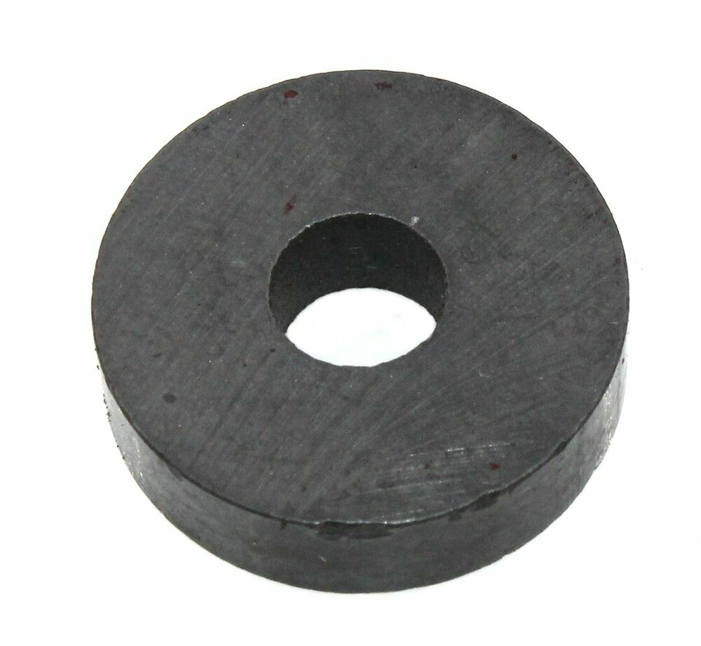 round ferrite magnet with mount hole 1lb pull strength lot of 10 28n058 ebay. Black Bedroom Furniture Sets. Home Design Ideas